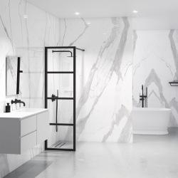 Kovová industriálnej priečka do sprchovacieho kúta 4D