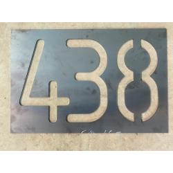 Oceľové číslo domu, menovka...