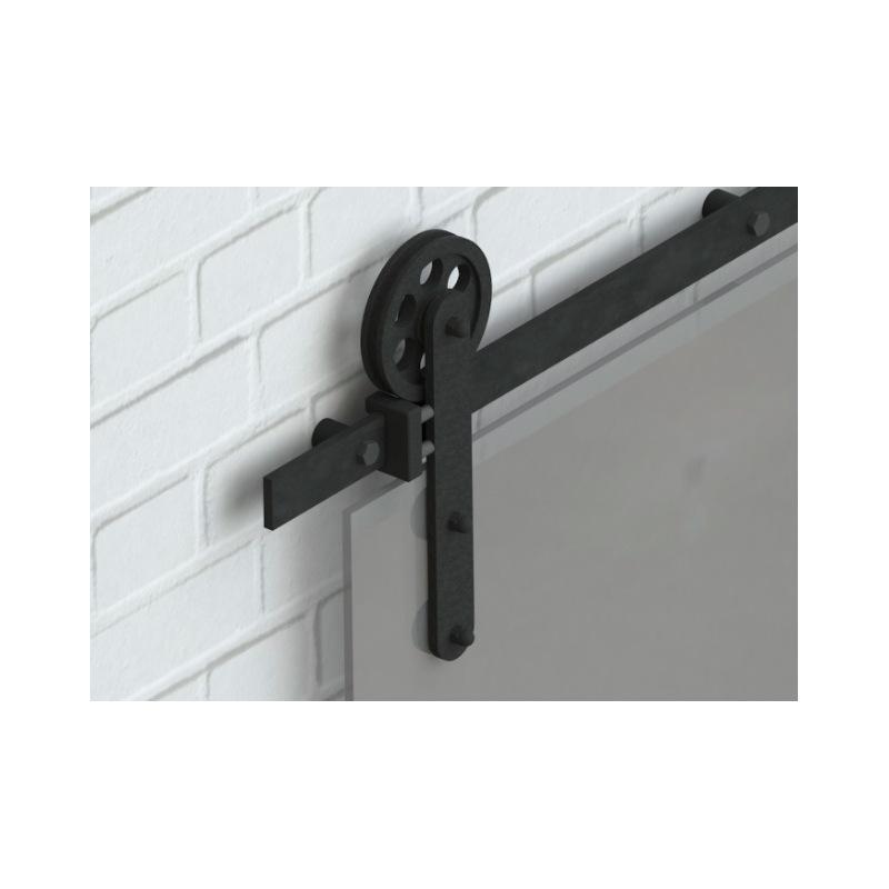 Posuvný systém na celosklenené dvere Country Glass,  pre jedny dvere