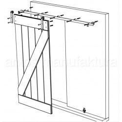 Posuvný systém na celosklenené dvere Country Glass,  pre dvojkrídlové dvere