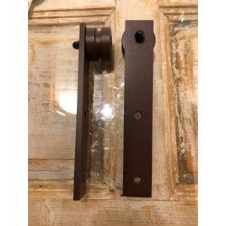 Ocelový hranatý posuvný systém Retro Barn, pre jedny dvere