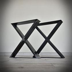 Oceľové podnož k jedálenskému stolu typ X hladké