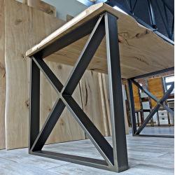 Oceľové nohy k jedálenskému stolu typ X11 v ráme