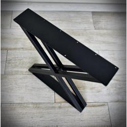 Oceľové podnož k jedálenskému stolu typ X dvojité