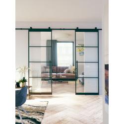 Železné interiérové dvere dvere so sklom 4D