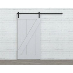 Systém kovania posuvných dverí po stene Retro Barn 80, pre jedny dvere