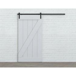 Systém kovania posuvných dverí po stene Retro Barn 80, pre dvoje dvere
