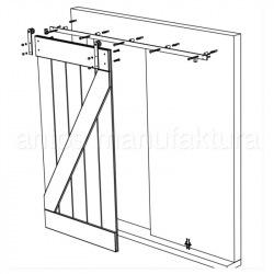 Posuvné stodolové dvere - dvojité Z v ráme