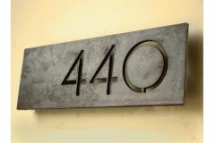 Industriálny domové čísla, označenie bytu alebo názov firmy a reštaurácie